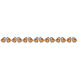 Candycorn border vector image vector image