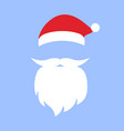 cap and mustache with a beard of santa claus vector image vector image