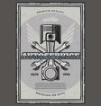 car service and auto repair garage retro poster vector image vector image