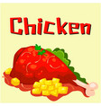 chicken menu chicken background image vector image