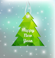 Christmas and New Year 2016 greeting card vector image