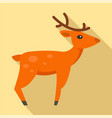 christmas deer icon flat style vector image vector image