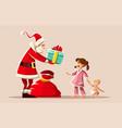 christmas holiday santa claus vector image vector image