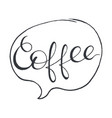 coffee stylized lettering vector image