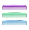 Colorful Combs on white vector image vector image