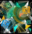 colorful geometric urban style greek seamless vector image