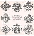 Decorative ethnic elements set vector image