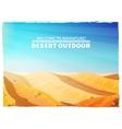 Desert Landscape Background Poster vector image vector image