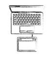 desktop computer and digitizer tablet connection vector image vector image