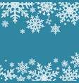 doodle snowflakes background vector image vector image