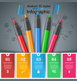 education infographic five items art infographic vector image