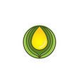 extract oil olive logo designs inspiration vector image vector image
