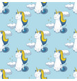 fairytale unicorn seamless pattern vector image
