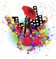 fashion women in drops vector image vector image