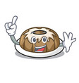 finger bundt cake mascot cartoon vector image vector image