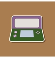 flat icon on background game console vector image vector image