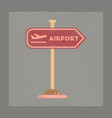 flat shading style icon airport sign vector image vector image
