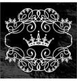 frame and crown vector image vector image