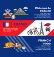 france travel destination advertisement banners vector image vector image