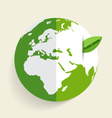 Green Eco Earth Green earth with green leaf vector image