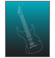 guitar on a turquoise vector image vector image
