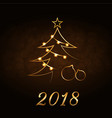 happy new year and merry christmas celebration vector image vector image