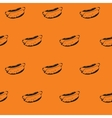Hot Dogs Background Hotdogs Seamless Pattern vector image vector image