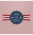 independence day 4th july paper emblem vector image vector image