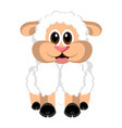 isolated cute sheep vector image
