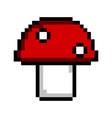 isolated pixelated mushroom icon vector image