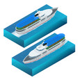 isometric set of a pleasure boat flat vector image vector image