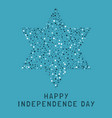 israel independence day holiday flat design dots vector image