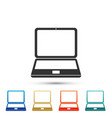 laptop icon isolated on white background vector image vector image