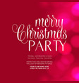 merry christmas party glowing pink background vector image