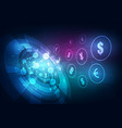 money transfer global currency stock exchange vector image