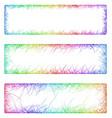 Multicolored sketch banner frame design set vector image vector image