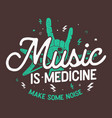 music concept typography design vector image