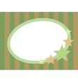 oval frame with stars vector image vector image