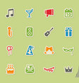 party simply icons vector image vector image