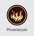 phoenixcoin cryptocurrency vector image vector image