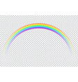 realistic rainbow icon vector image
