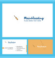 screw driver logo design with tagline front and vector image vector image