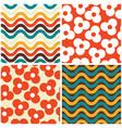 Seamless mid-century modern pattern set