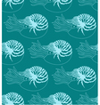 seamless pattern made of Nautilus Pompilius vector image vector image