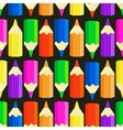 seamless pattern with colorful pencils vector image vector image