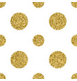 seamless pattern with gold glitter textured circle vector image