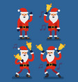 set christmas santa claus vector image