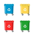 Set Recycle Bins for Trash and Garbage vector image vector image