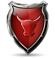 shield with the red bull vector image
