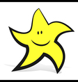 smiling star vector image vector image